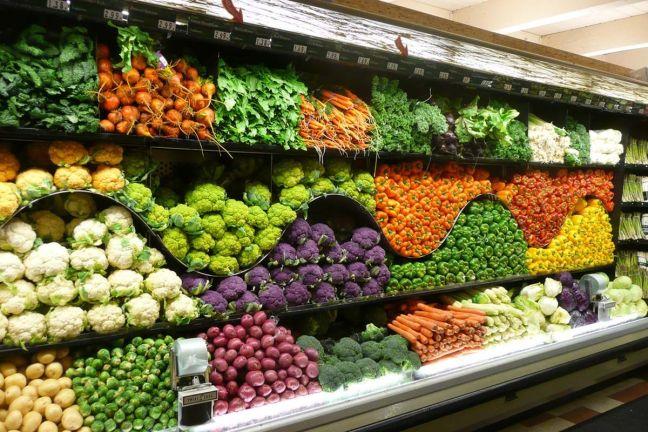 Image result for vegetables in a supermarket