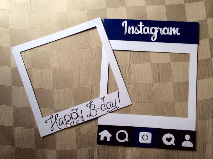 Diy Instagram Photo Booth Prop Frame | Frameswall.co