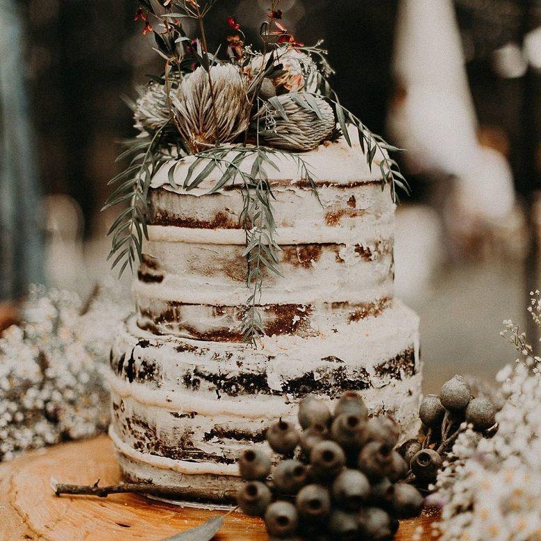 18 semi naked wedding cake ideas -  - rustic wedding cake