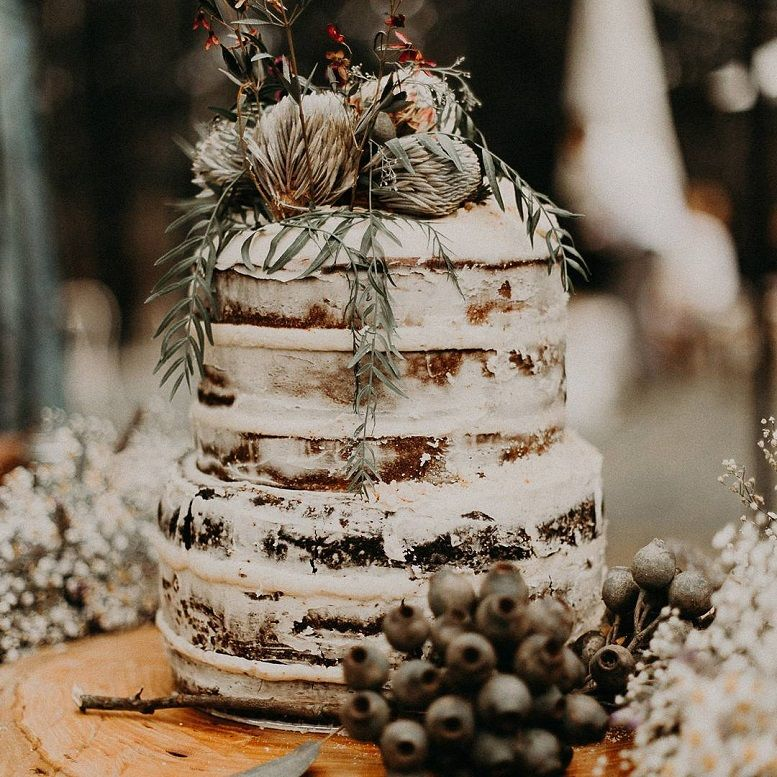 18 semi naked wedding cake ideas -  - rustic wedding cake