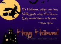 happy halloween message greetings