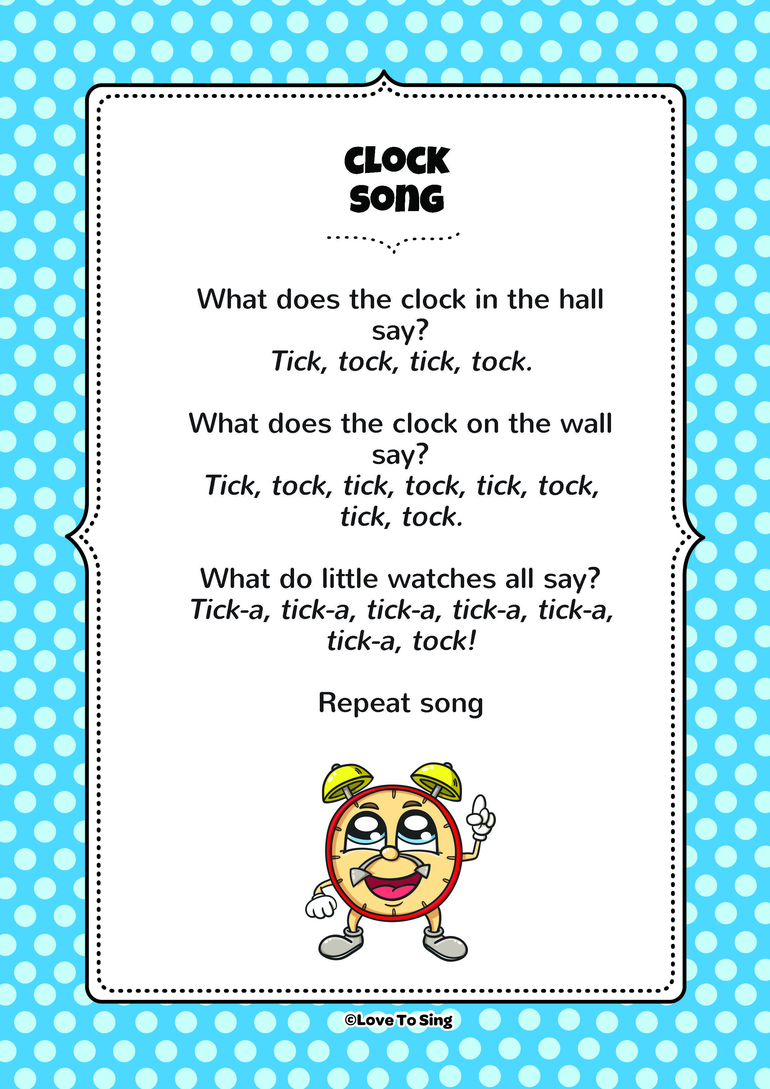 Clock Song Download The Free Lyrics From Our Website