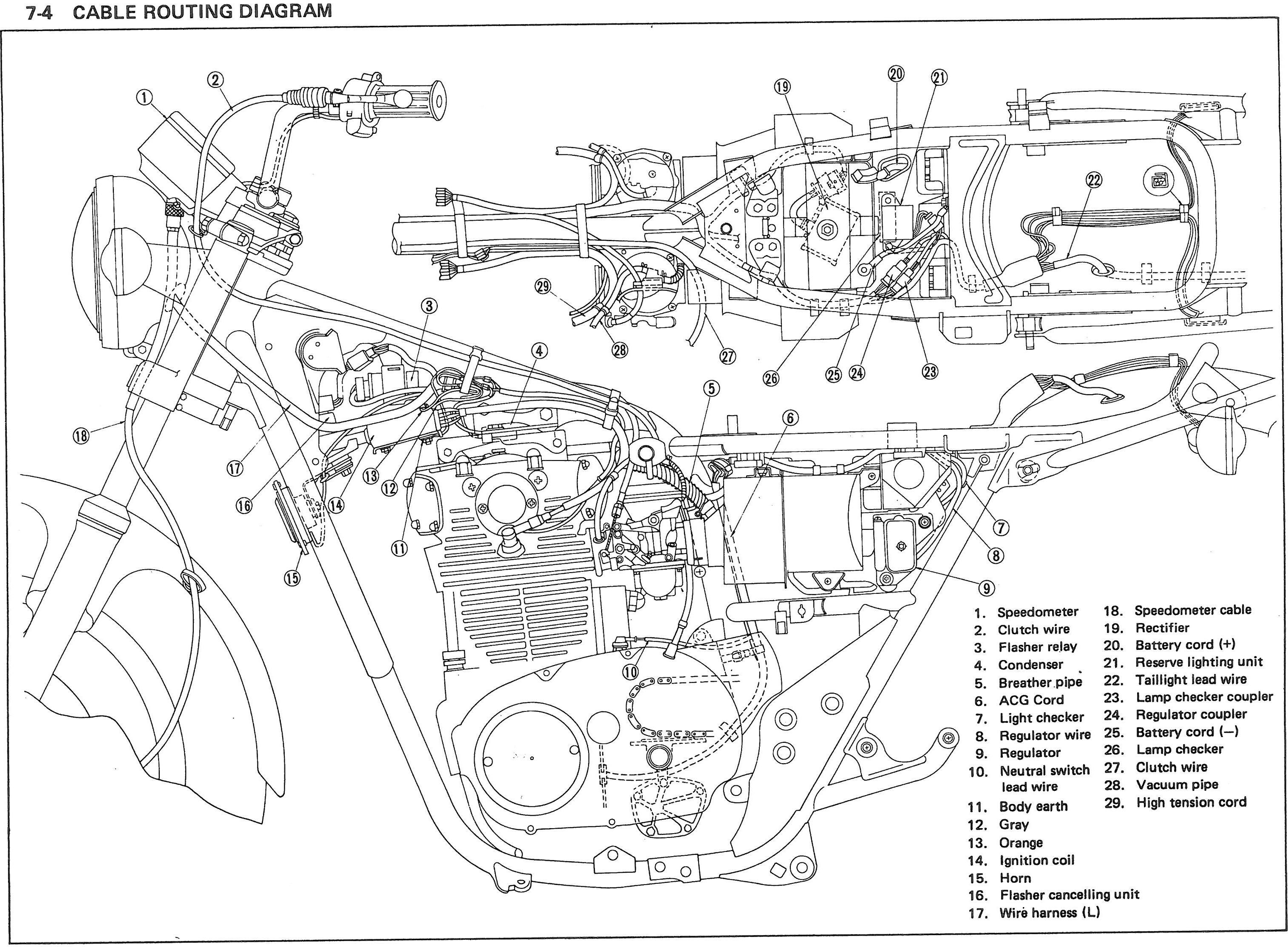 yamaha xs400 cafe racer sketch