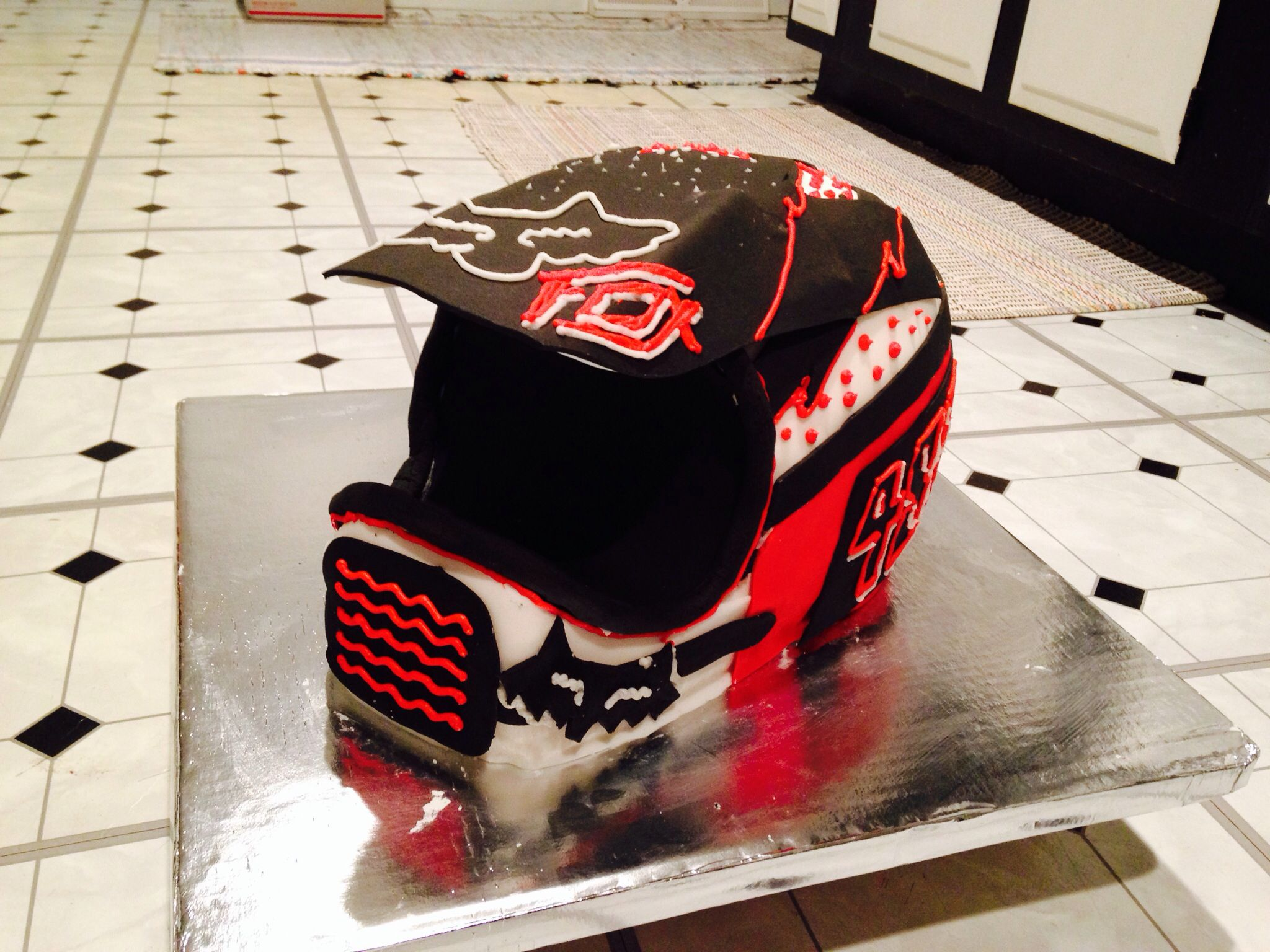 Dirtbike Helmet Cake Caeden Would Love This For His 2nd