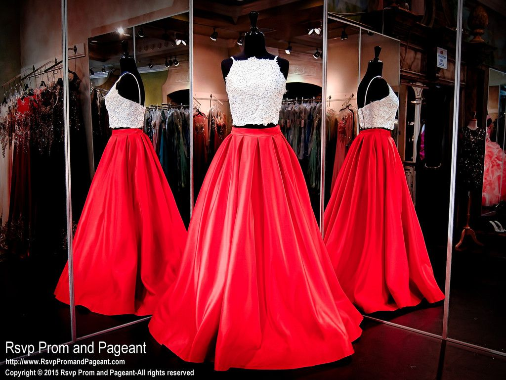 You Will Look Unforgettable In This Gorgeous Red Two Piece