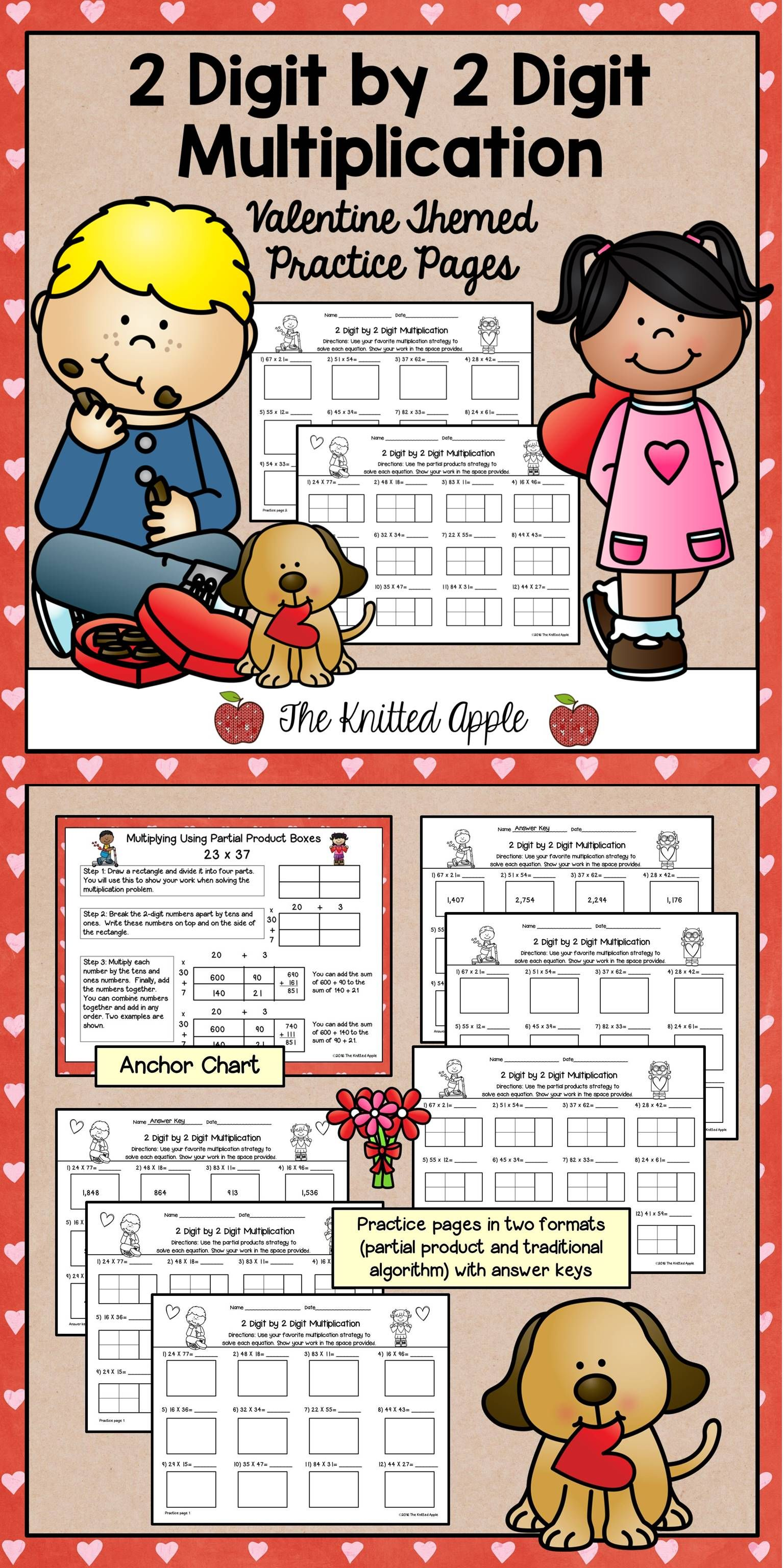 Freebie 2 Digit By 2 Digit Multiplication Pages In A