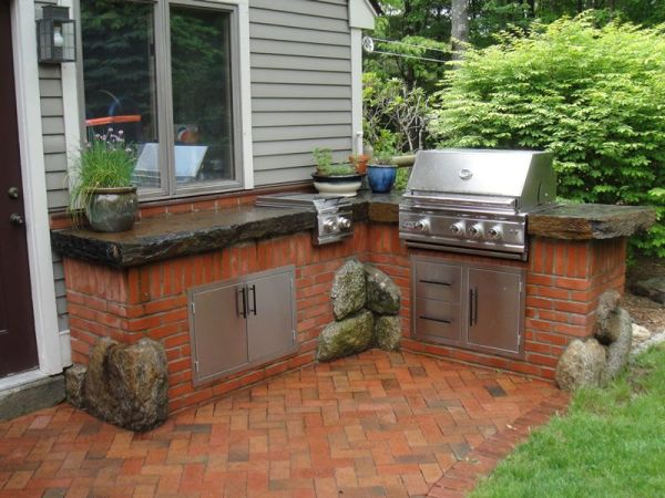 brick patio with outdoor kitchen best red brick outdoor patio furniture - Поиск в Google