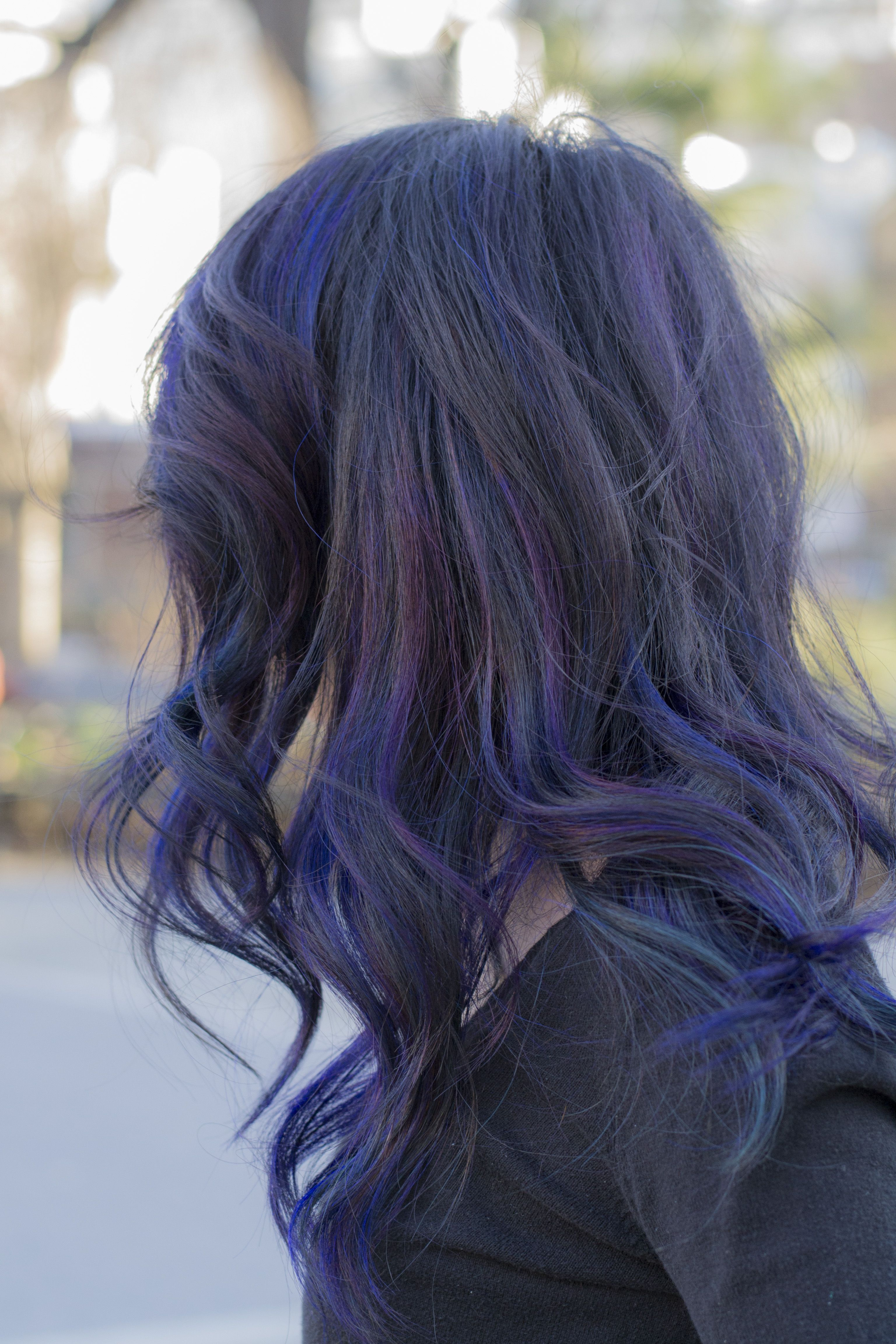 black hair with purple highlights pictures Google Search