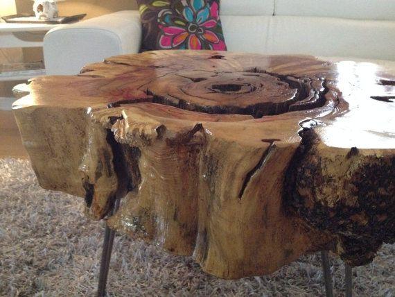 Wood Stump Side TablesLargeXlarge POLYURETHANE By