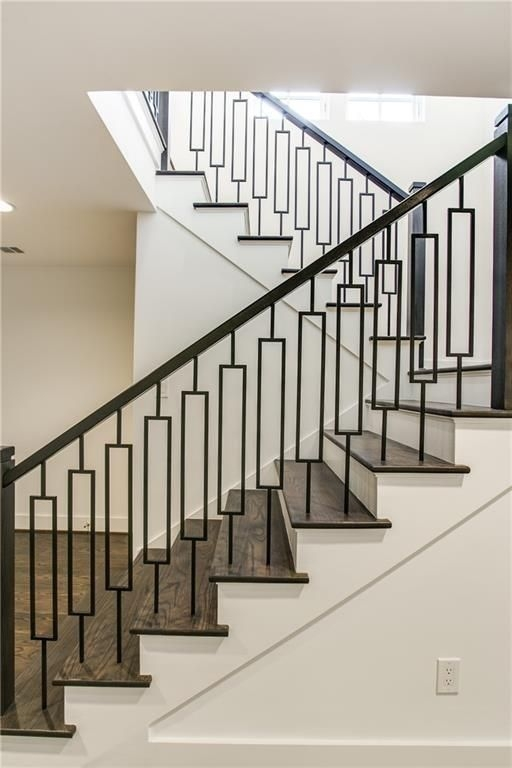 Love This Mid Century Modern Bannister Railing Home | Mid Century Modern Stair Railing