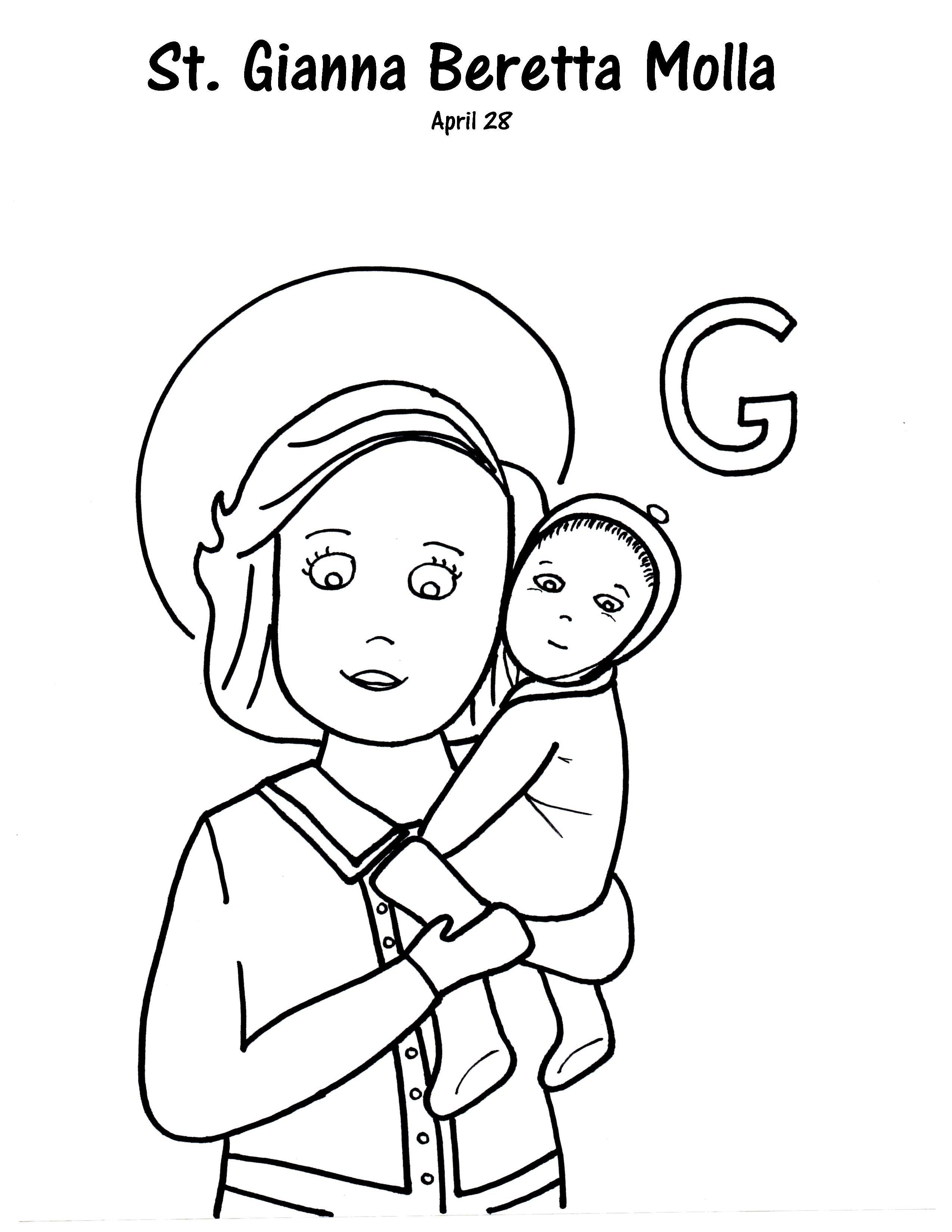 G Is For St Gianna Beretta Molla