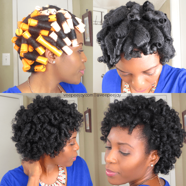 Roller Set Natural Hair 4c With Flexi Rods Perm Rod Set