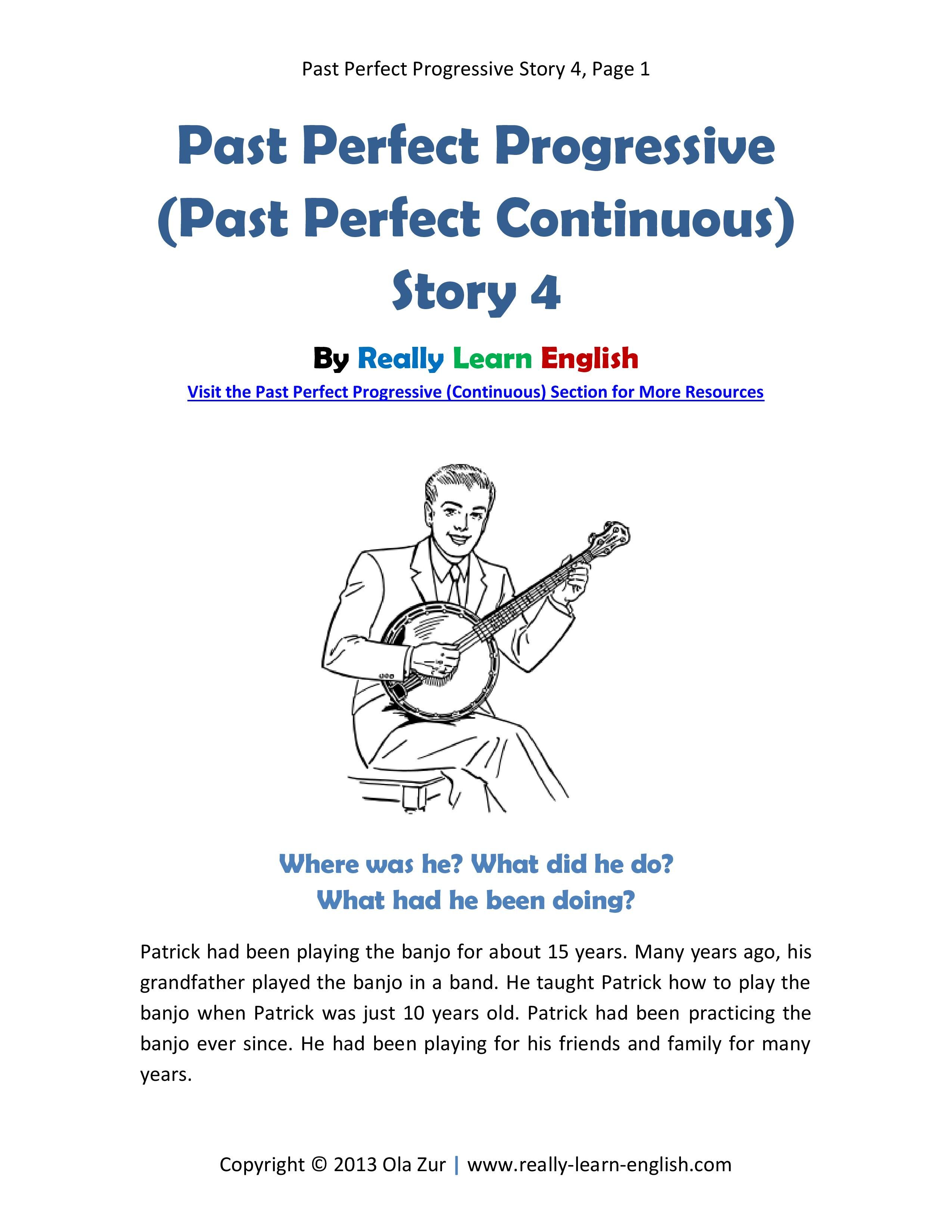 Free Printable Short Story With Worksheets To Practice The
