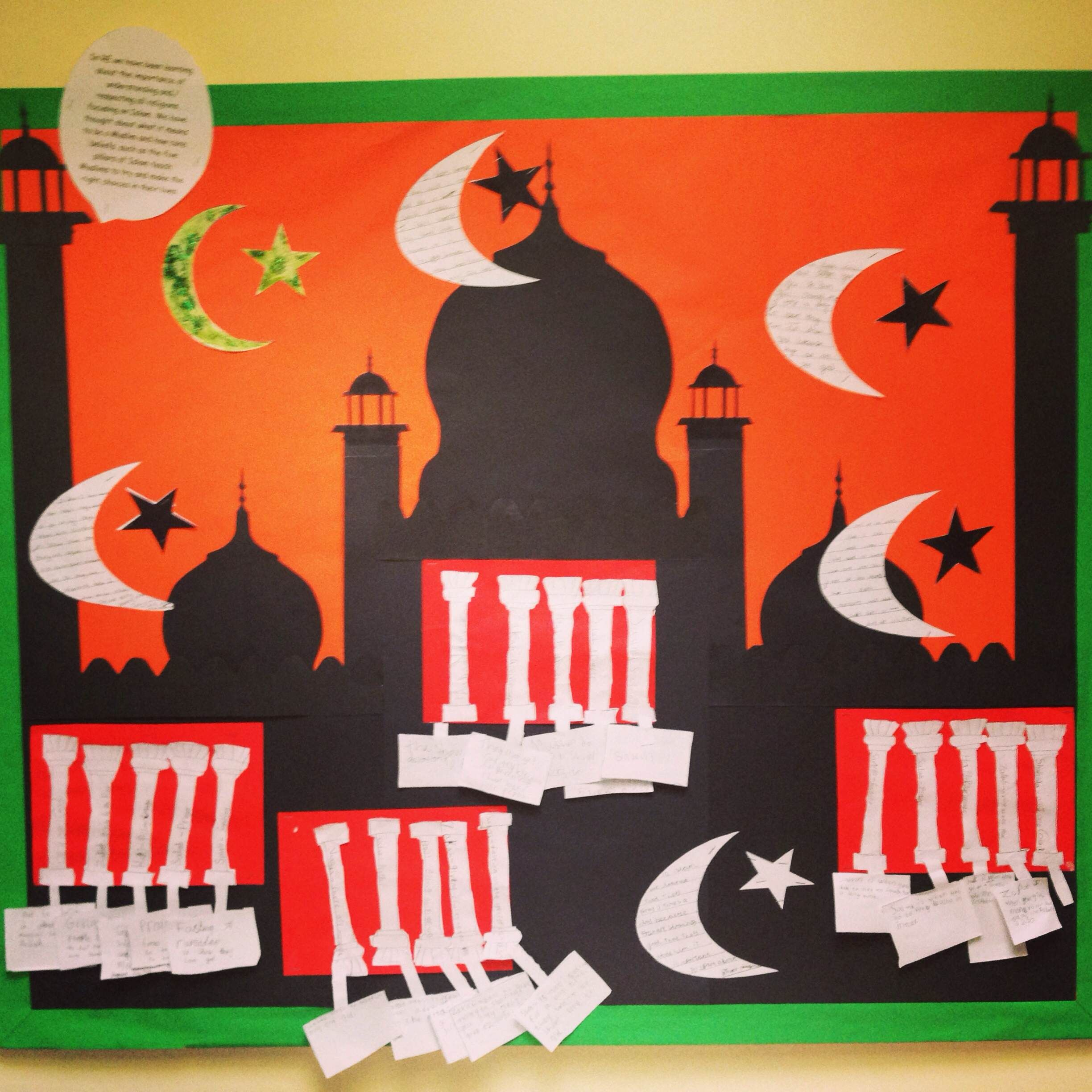Year 3 Re Display On Islam And Learning From The 5 Pillars