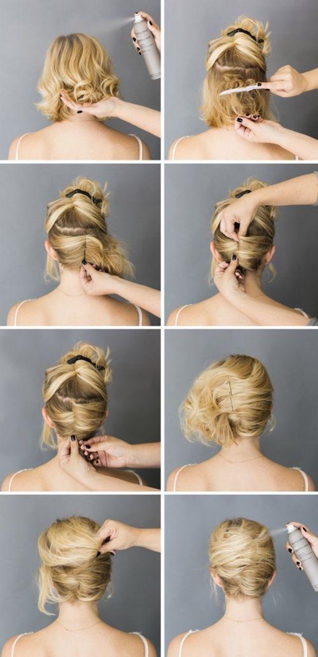 Short Hair Bun Hair styling Pinterest Short hair buns Hair