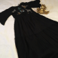 Zara long black dress with beading and embroidery nwt