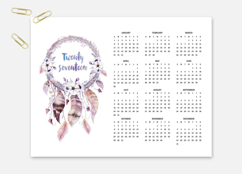 Calendars Dreamcatcher Calendar Native Par Kjprintabledesigns