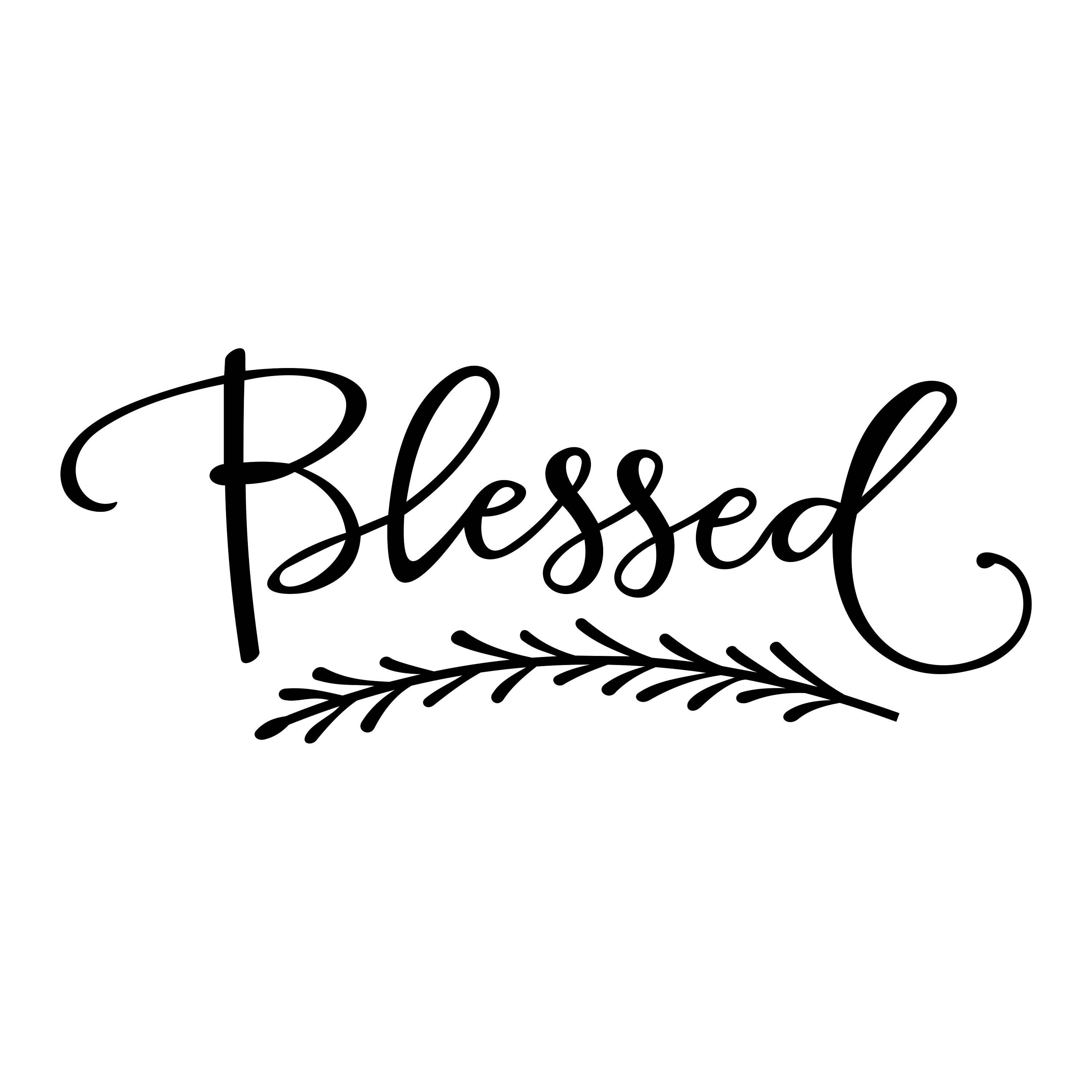 Blessed Phrase Graphics Svg Dxf Eps Cdr Ai Vector