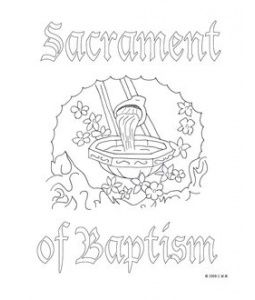 Baptism Coloring Pages Catholic | Coloring Page for kids