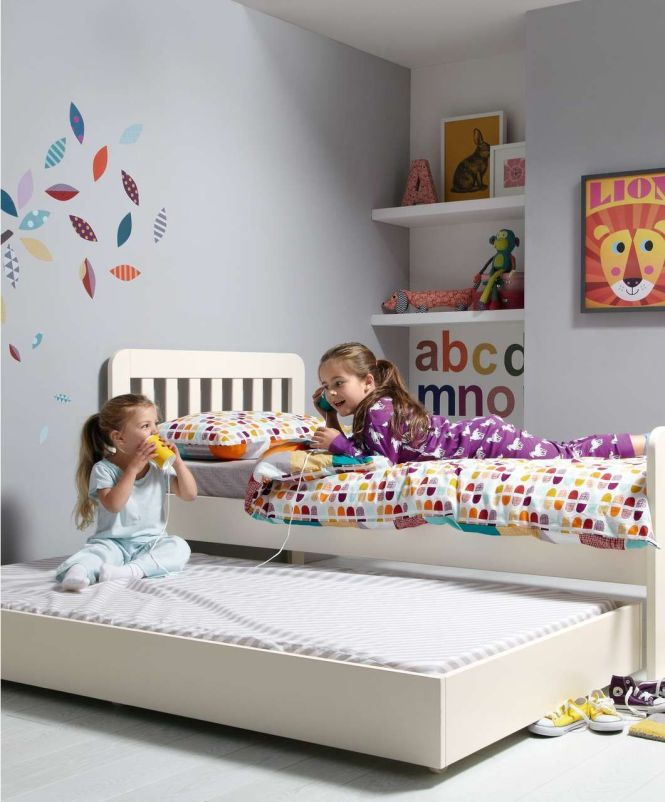 Bay Single Bed With Sleepover Trundle Including 2 Mattresses Toddler Beds Kids