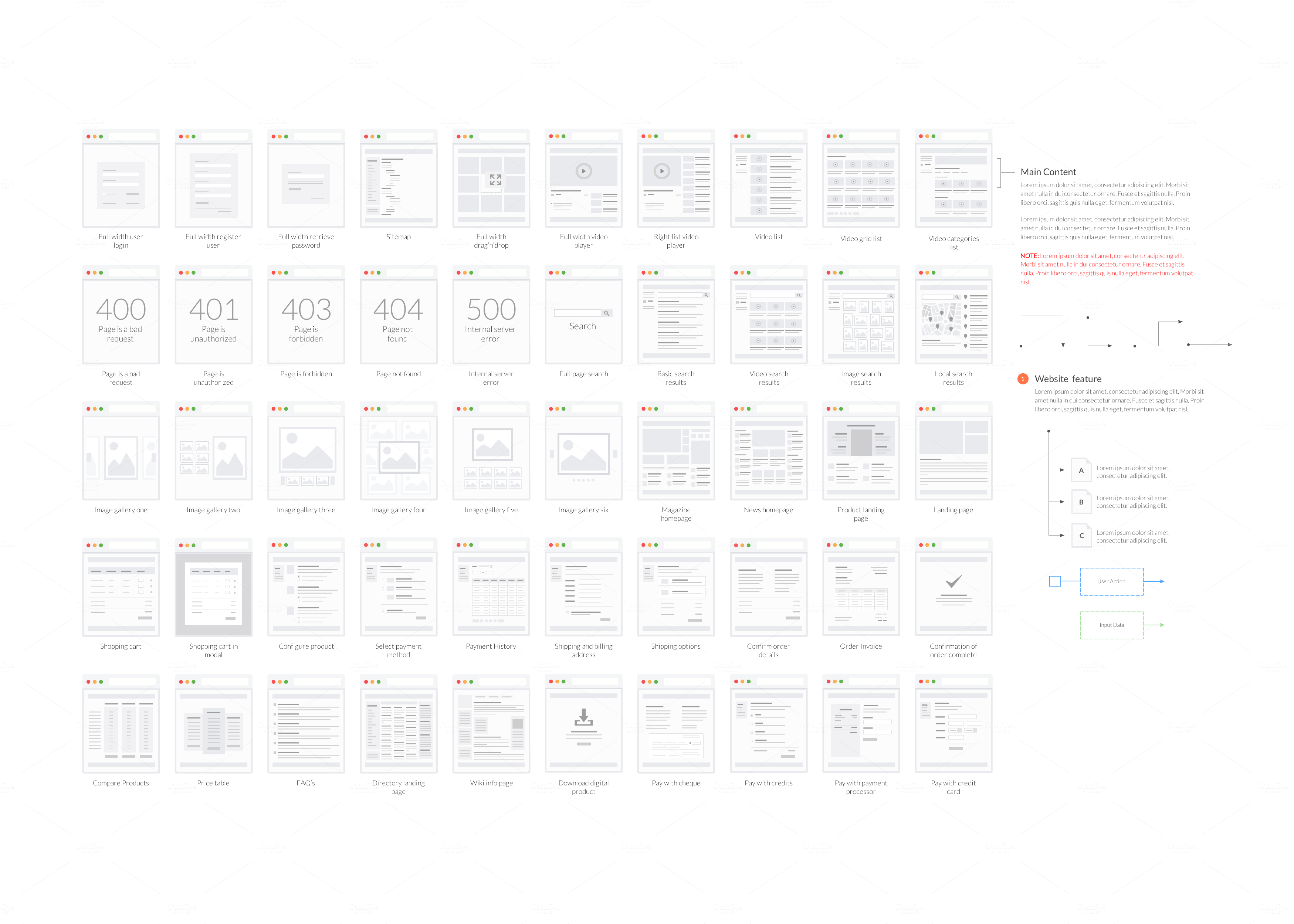 Tiles For Wireframes Amp Flowcharts V2 By Firetuts On