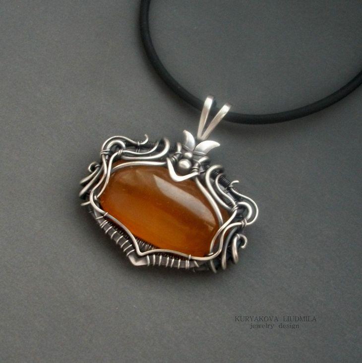 Honey amber yellow stone by KLDesignerJewelry on Etsy My jewelry