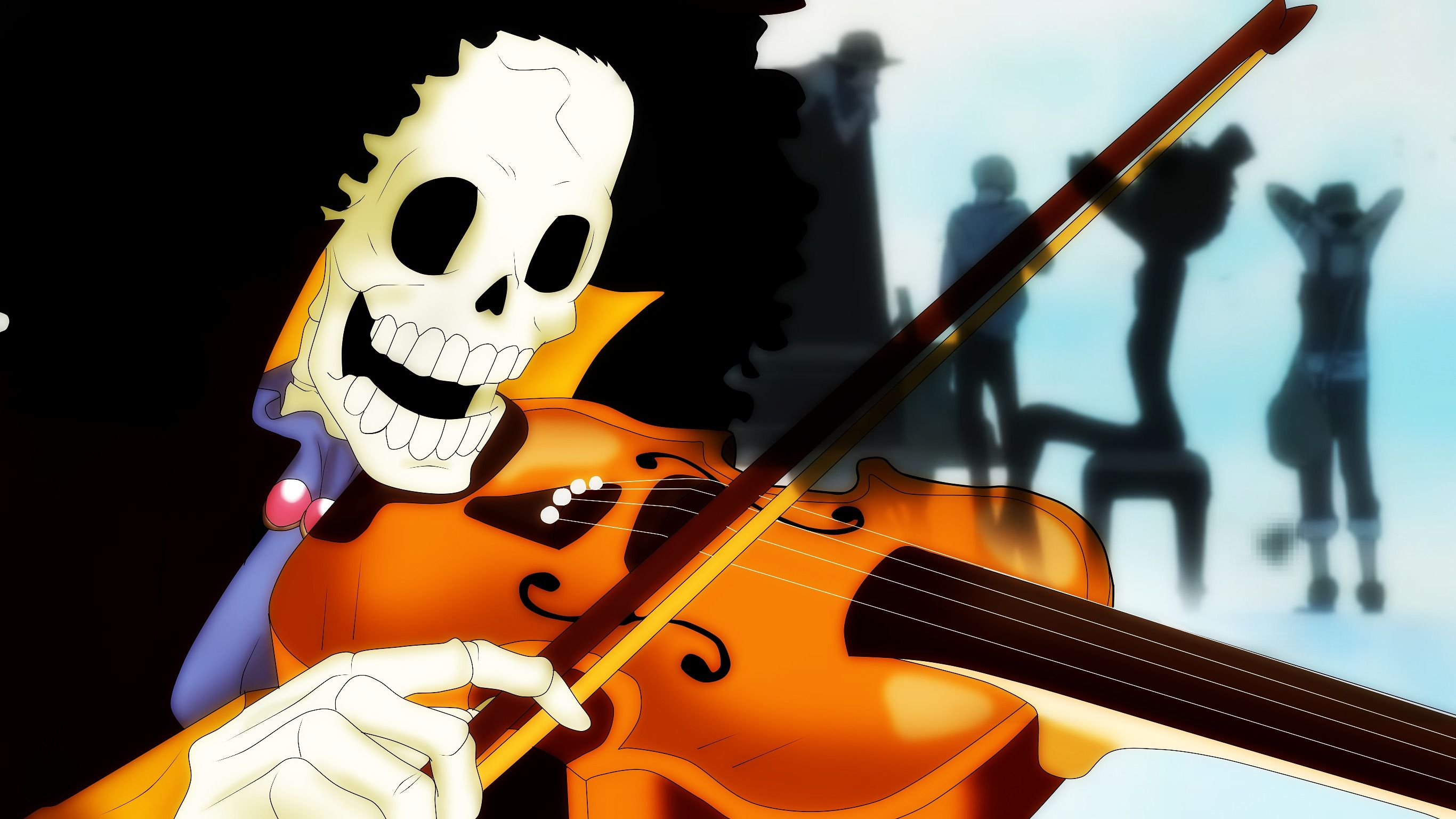 Luffy and friends live wallpaper from one piece anime. Brook | One Piece | One Piece | Pinterest | Anime, Otaku ...