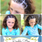 An easy sporty hairstyleuble flip accents great for growing