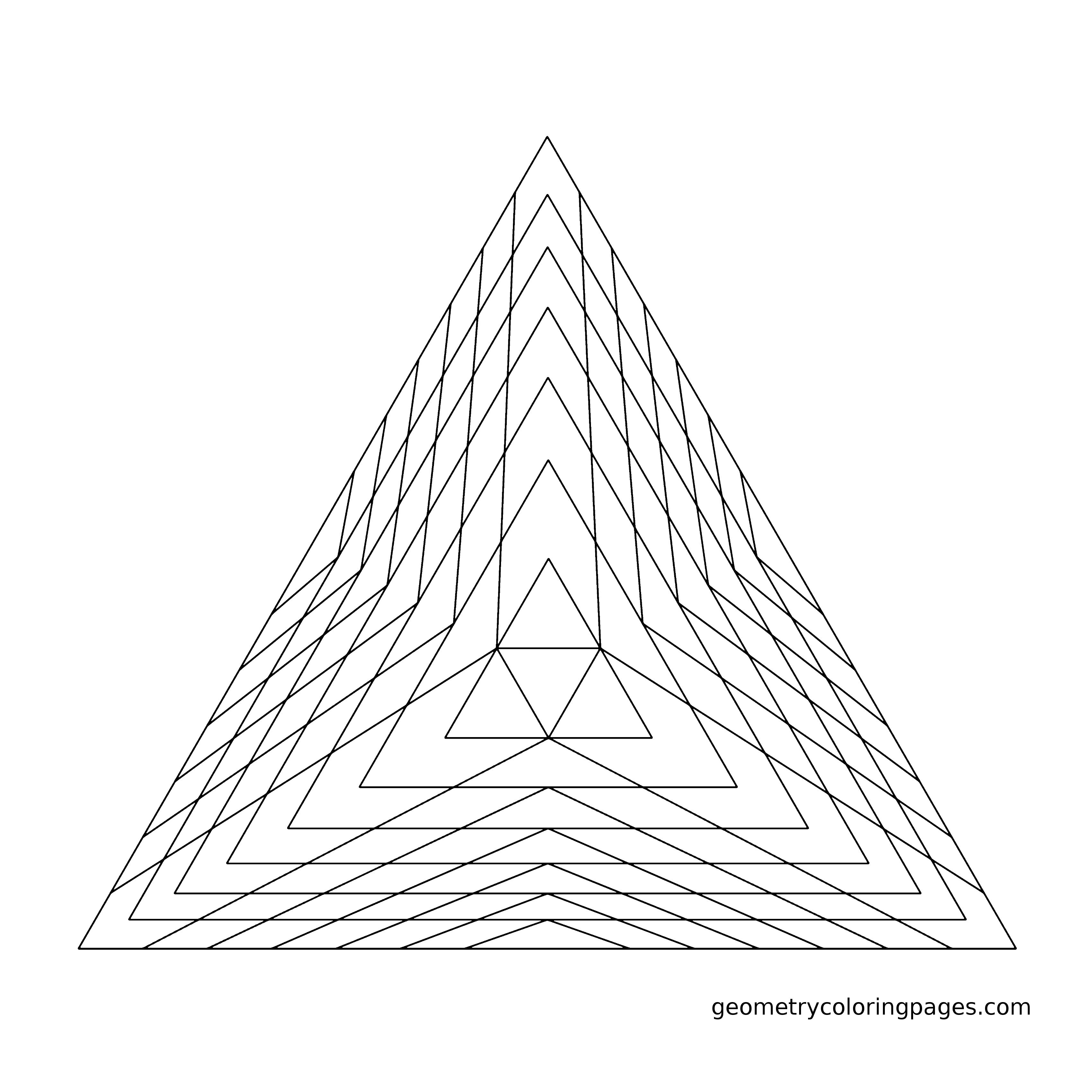 Geometry Coloring Page Pyramid From Geometrycoloringpages