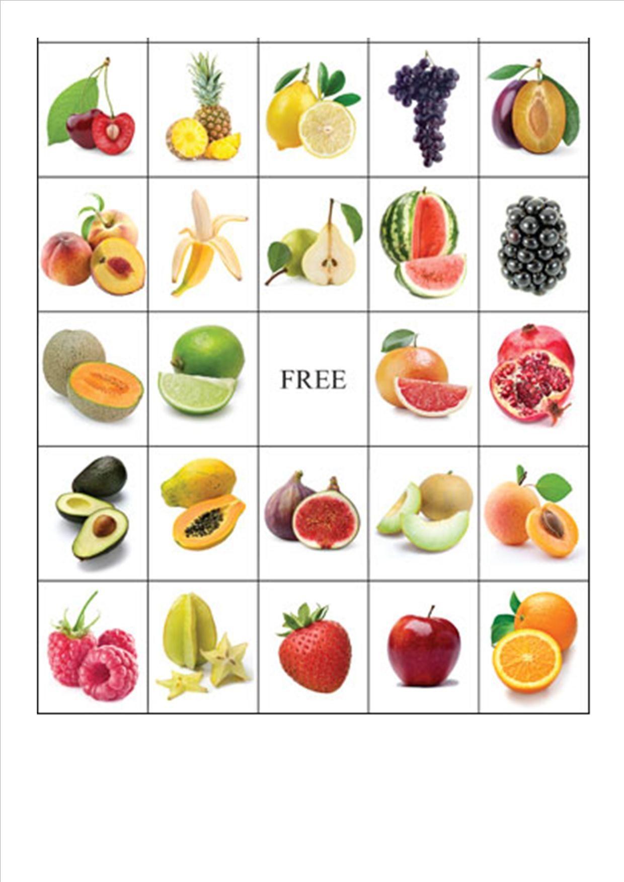 Fruit Bingo4