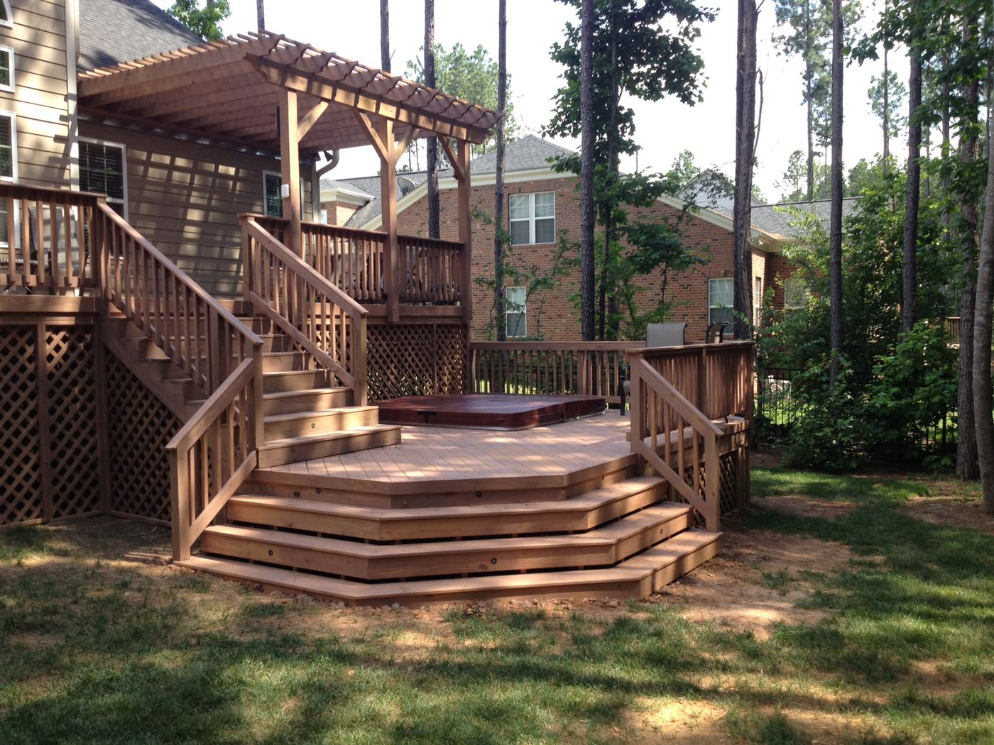 layton double deck and pergola i love the two distinct on steps in discovering the right covered deck ideas id=11502