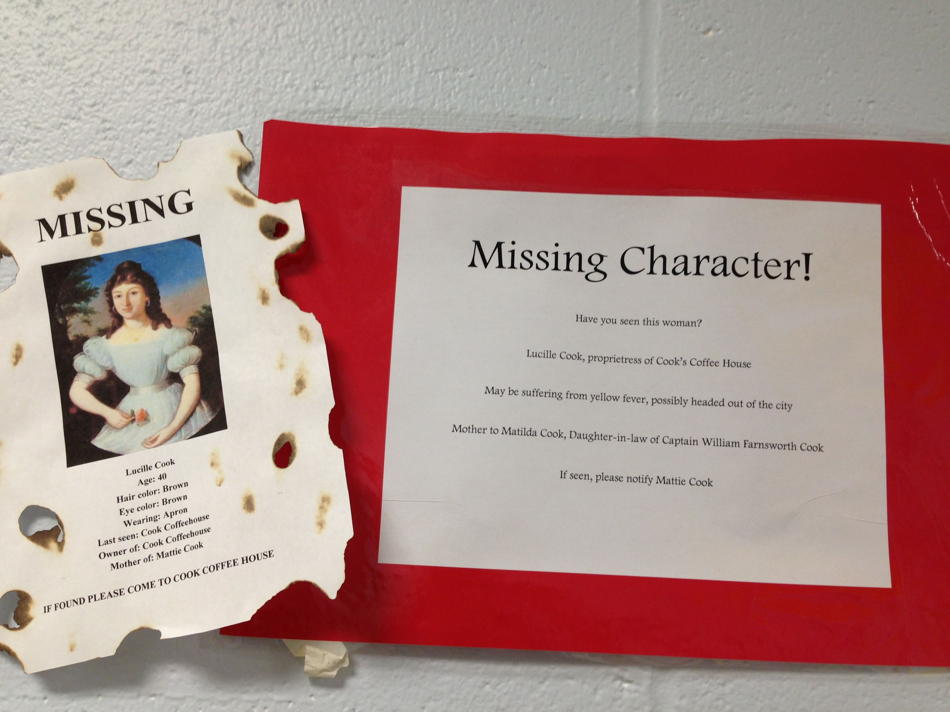Missing Character Where Is Lucille Cook