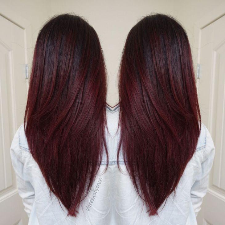 Dark red violet plum balayage  Hairrr  Pinterest  Dark red