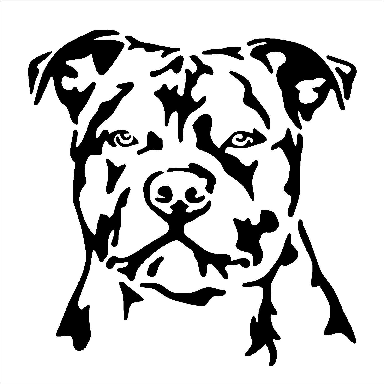 Staffordshire Bull Terrier Dog Vinyl Wall Art Sticker