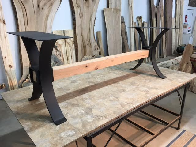 Steel Dining Table Base. Ohiowoodlands Metal Table Legs