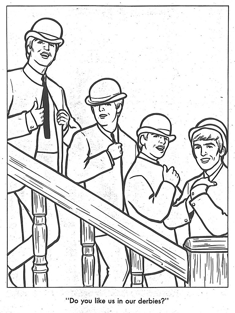the beatles coloring book  the swingin' sixties