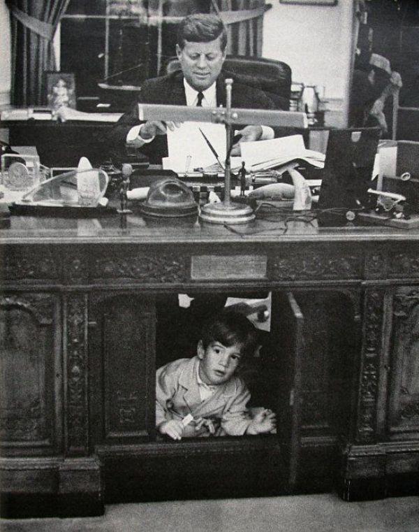 Image result for John Jr. under JFK's desk