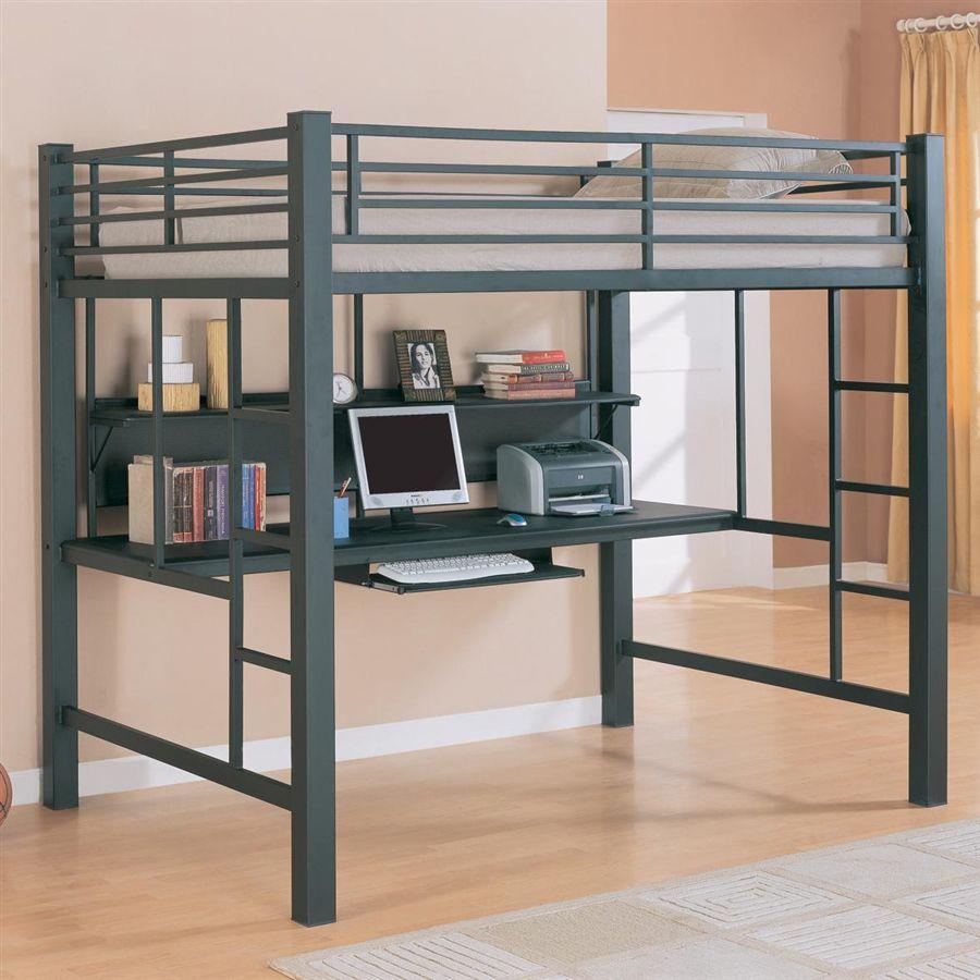 Full Loft Bed W Desk Bed Design Lofts And Desks