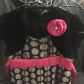Girls pink black u white polka dot party dress polka dot party