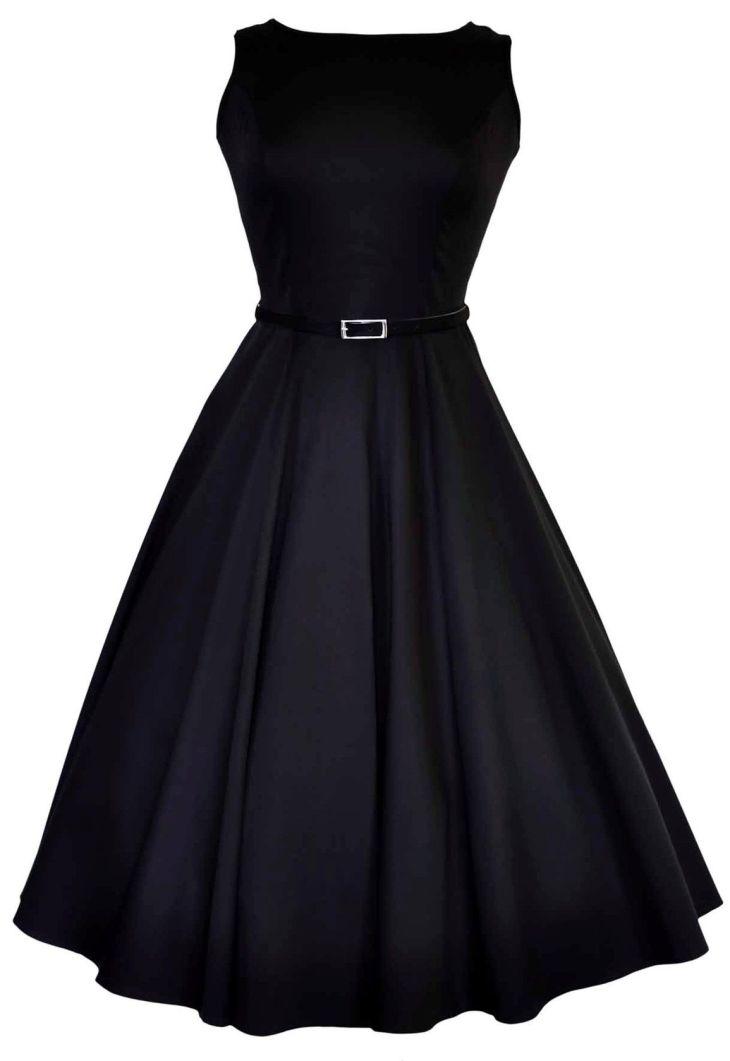 Flared black dress  Evening dresses  Pinterest  Audrey hepburn