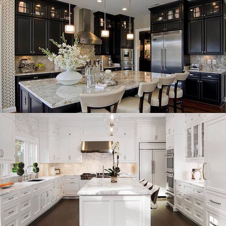 Top or bottom Which kitchen is your ideal design Top by Tamara
