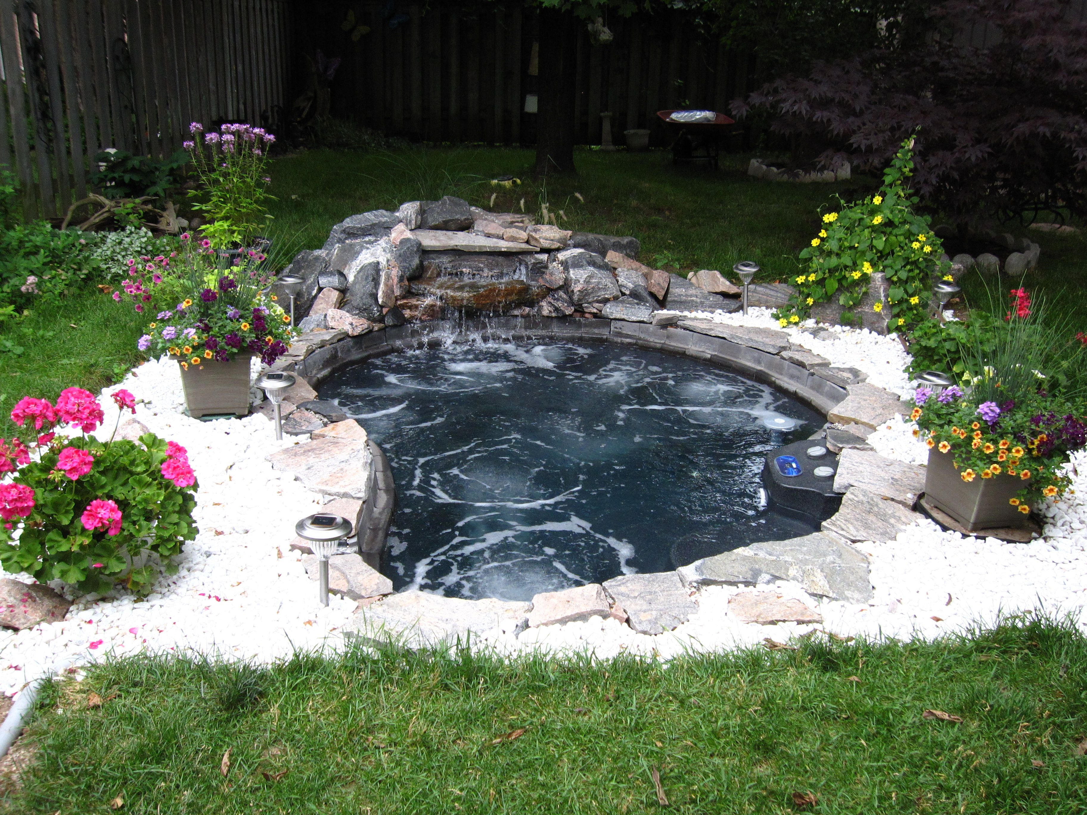 Thinking Of A Large In-ground Spa With A Waterfall Feature