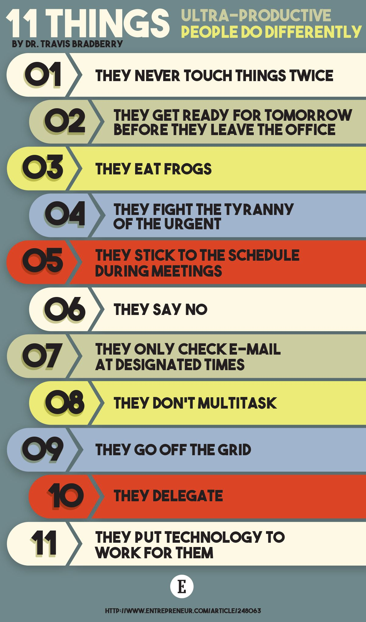 11 Things Productive People Do Differently