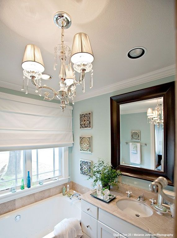 Pretty Bathroom Chandelier Would Like To Add One Our Master