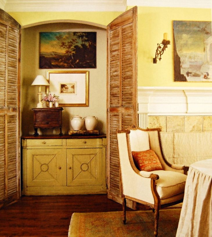 love this little cubby and shuttered doors Home Decor Pinterest