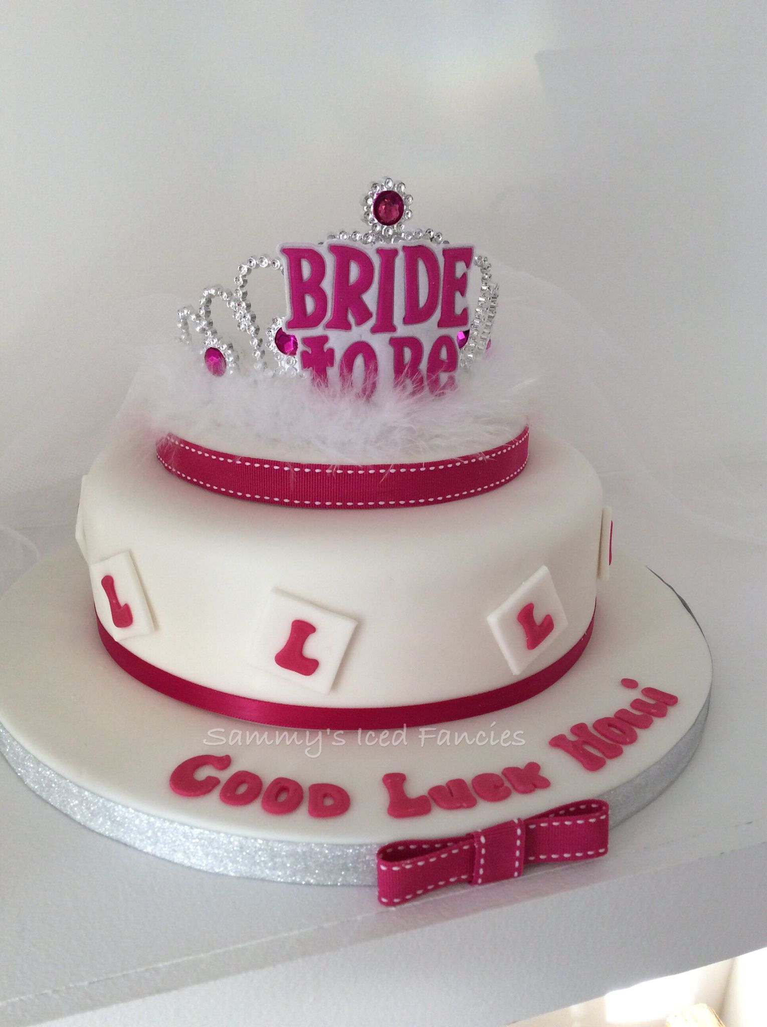 Hen Party Cake With Tiara And Veil