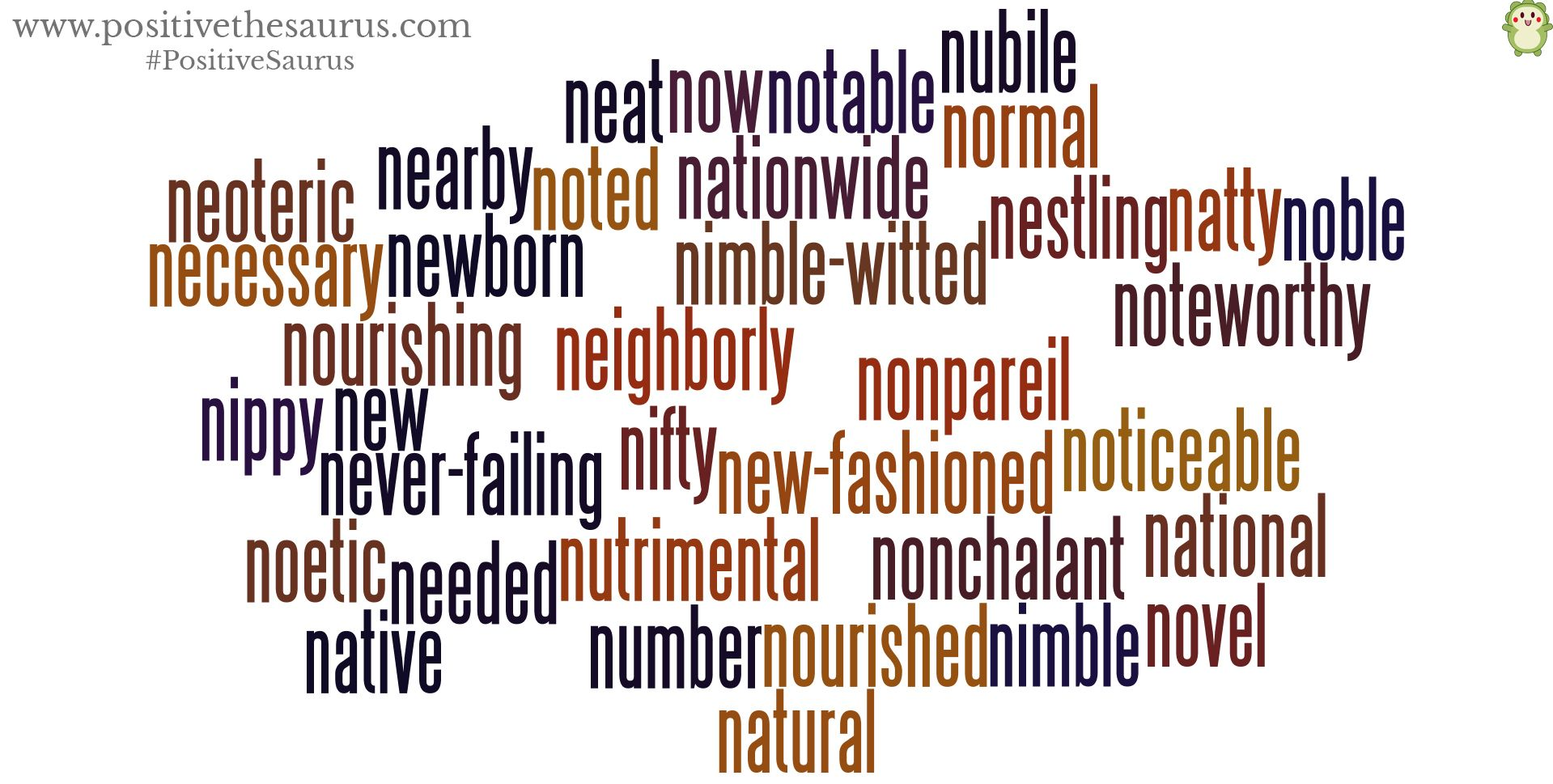 Positive Adjectives Starting With N Have A Novel Day