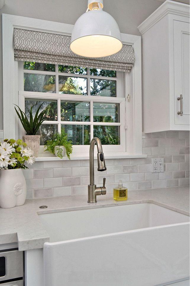 kitchen farmhouse sink window with roman shade above farmhouse sink farmhousesink on farmhouse kitchen window id=83858