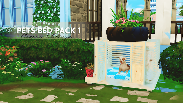 Sims 4 CCs The Best PETS BED PACK 1 By Coupure