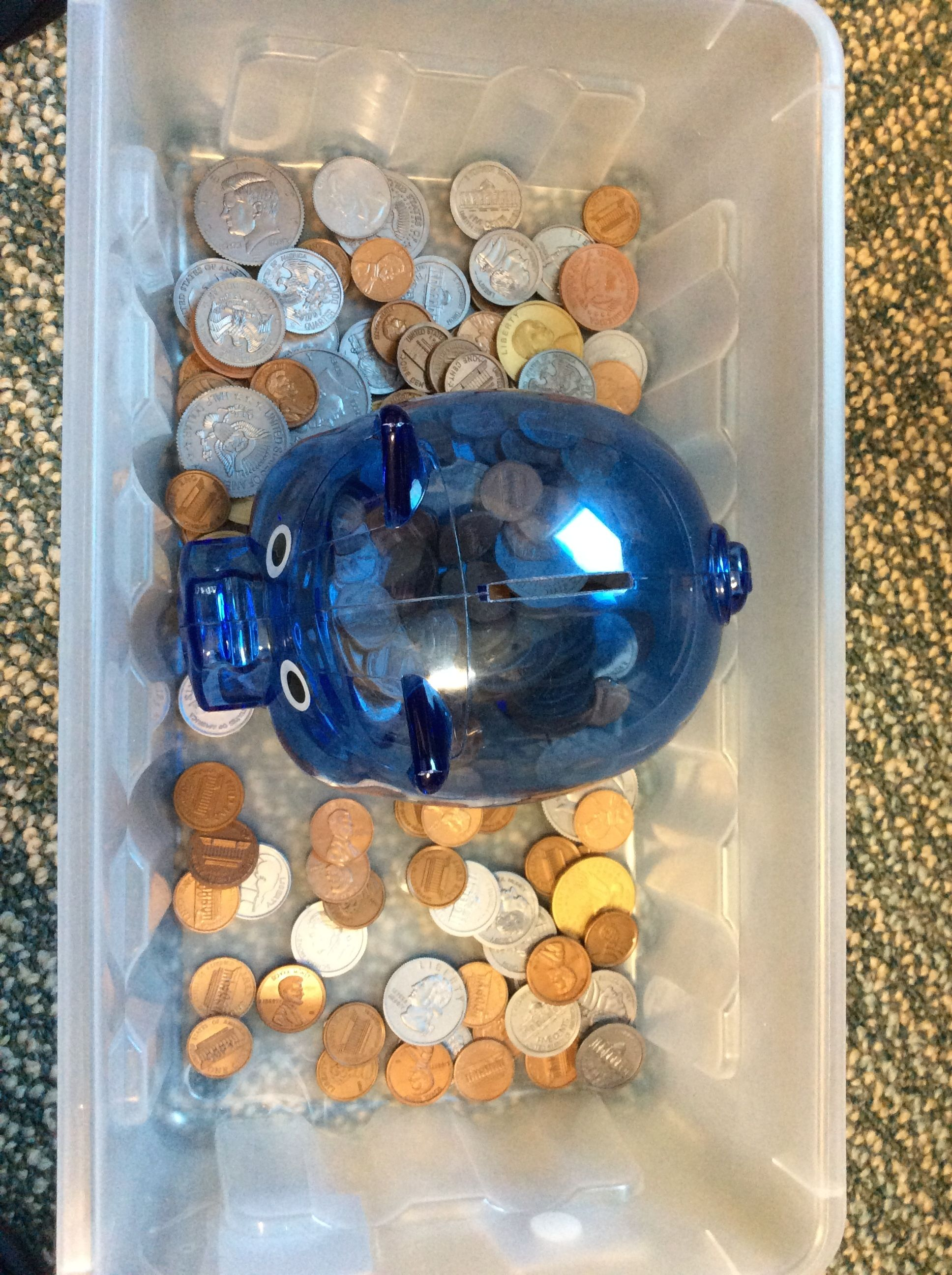Put In Task Place The Coins In The Piggy Bank Great Fine Motor Skills Practice